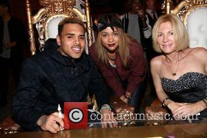 Chris Brown, Julie Marie and Karen Bystedt - Chris Brown and Karen Bystedt Exclusive Serigraph Signing Benefit Symphonic Love Foundation...