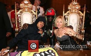 Chris Brown, Sam Sarpong and Karen Bystedt - Chris Brown and Karen Bystedt Exclusive Serigraph Signing Benefit Symphonic Love Foundation...