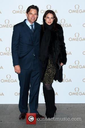 Dougray Scott and Claire Forlani - Omega Oxford Street store opening party at The Shard in London - Arrivals at...