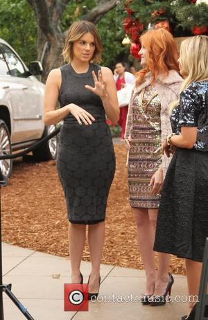 Ali Fedotowsky - Ali Fedotowsky filming at The Grove in Hollywood - Los Angeles, California, United States - Thursday 11th...