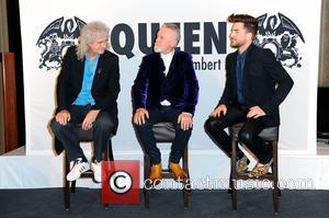 Queen, Brian May, Adam Lambert and Roger Taylor - Brian May and Roger Taylor of Queen and Adam Lambert promoting...