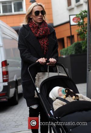 Petra Stunt and Sophia - Tamara Ecclestone and Petra Stunt arrive at Zuma restaurant with their daughters Lavinia and Sophia...