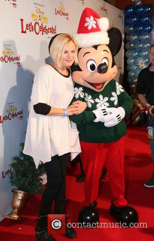 Malin Akerman and Minnie Mouse