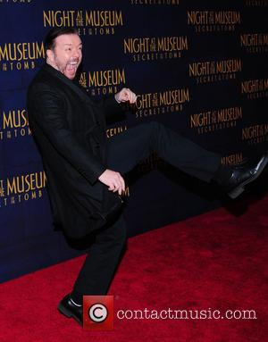 Ricky Gervais - Shots of a variety of stars as they arrive for the New York Premiere of 'Night at...