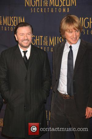 Ricky Gervais and Owen Wilson