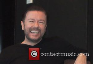 Ricky Gervais - Shots from the press conference for the movie 'Night at the Museum: Secret of the Tomb' The...