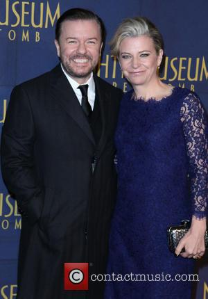 Ricky Gervais and Jane Fallon - New York Premiere of 'Night at the Museum: Secret of the Tomb' at The...