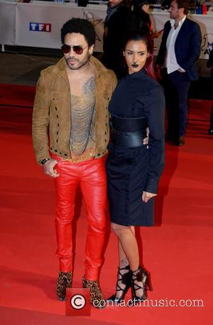 Lenny Kravitz and Shy'm - A variety of stars were photographed on the red carpet as they arrived at the...