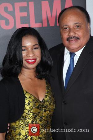 Arndrea Waters and Martin Luther King III - Shots of a variety of stars as they took the the red...