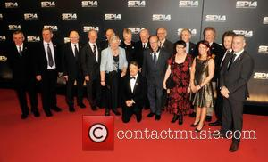 Eddie Izzard - Photographs from the red carpet at the BBC Sports Personality Of The Year Award 2014 an annual...