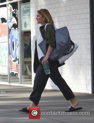 Hollywood actress Drew Barrymore was spotted out and about in Los Angeles, California, United States - Monday 15th December 2014