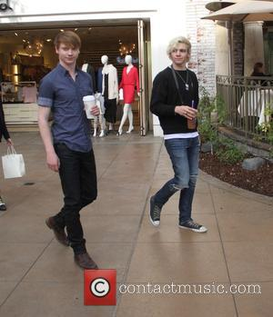 Ross Lynch and Calum Worth - Ross Lynch and Calum Worthy from 'Austin & Ally' go shopping at The Grove...