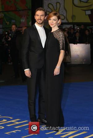 Dan Stevens and wife Susie Hariet - Stars from the latest in the Night at the Museum series of movies...