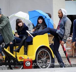 Zooey Deschanel, Hannah Simone and Damon Wayans Jr