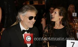 Andrea Bocelli and Veronica Berti - Andrea Bocelli and wife Veronica celebrate Le Cirque's 40th anniversary at a gala to...