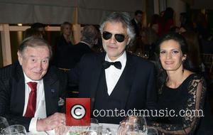 Sirio Maccioni, Andrea Bocelli and Veronica Berti