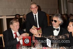 Sirio Maccioni, Vittorio Giordano and Andrea Bocelli