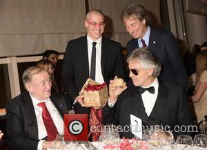 Sirio Maccioni, Vittorio Giordano, Marco Bocelli and Andrea Bocelli
