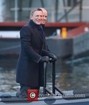 Daniel Craig and Rory Kinnear - Daniel Craig and Rory Kinnear film a scene for the new Bond movie Spectre...