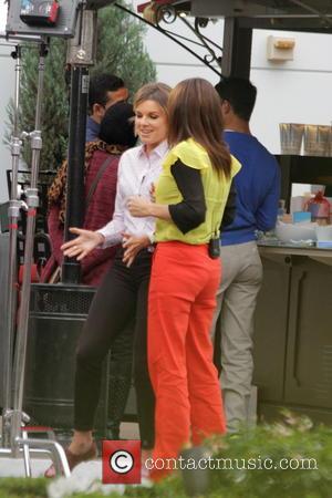 Ali Fedotowsky - Ali Fedotowsky films a segment for E! TV show at The Grove. - Los Angeles, California, United...