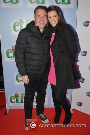Chris Moyles and Suzanne Kane - Opening night of 'Elf the Musical' at The Bord Gais Energy Theatre in Dublin...