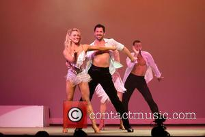Peta Murgatroyd and Maksim Chmerkovskiy - dances with Olympic gold medalist Meryl Davis and other in SWAY at The Space...