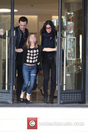 Courteney Cox, Johnny McDaid and Coco Arquette - American actress best known for her role as Monica Geller in the...