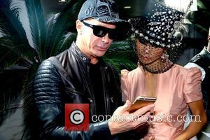 Lloyd Klein and Bai Ling - Photographs from the Academy of Couture Art's 'Nuit Divine' charity event which was held...
