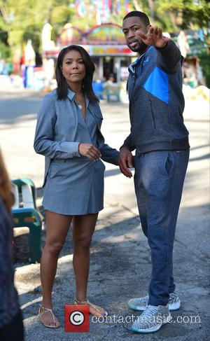 Gabrielle Union and Dwyane Wade - A fun filled day at Santa's Enchanted Forest for Wade's World Foundation '3 Under...
