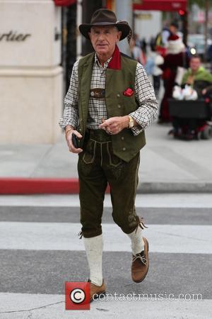 Frédéric Prinz von Anhalt - Frédéric Prinz von Anhalt wears German lederhosen while shopping on Rodeo Drive at Beverly Hills...