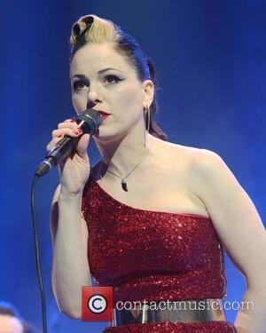 Irish singer Imelda May was photographed as she gave a live performance at the 3Arena in Dublin, Ireland - Friday...