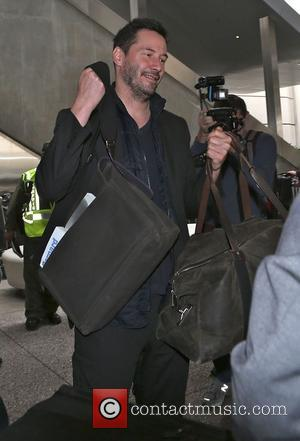 American Hollywood actor Keanu Reeves was photographed as he came in to LAX airport in Los Angeles, California, United States...