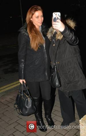 Una Healy and Una Foden - Una Foden arriving at the RTE studios for the 'The Late Late Show' -...
