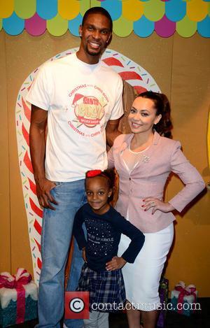 Chris Bosh, Trinity Bosh and Adrienne Williams Bosh