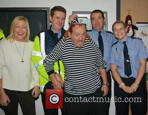 Jenny O'Carroll and Brendan O'Carroll & Gardai - Celebrities attend the annual Christmas Ward Walk 2014 at Our Lady's Hospital...