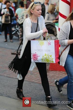 Emily Kinney - Emily Kinney goes Christmas shopping with a female friend at the Grove. at West Hollywood - Los...