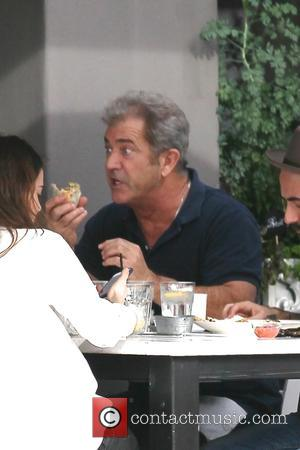 American Hollywood movie star Mel Gibson was photographed as he was out for lunch with friends at the Toast Bakery...