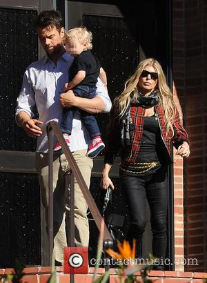 Josh Duhamel, Fergie and Axl Duhamel - Josh Duhamel and Fergie take their son Axl to church on Christmas Day...
