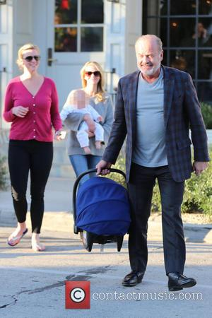 Kelsey Grammer, Kayte Walsh and Kelsey Gabriel Elias - Kelsey Grammer and his family have lunch at Gracias Madre restaurant....