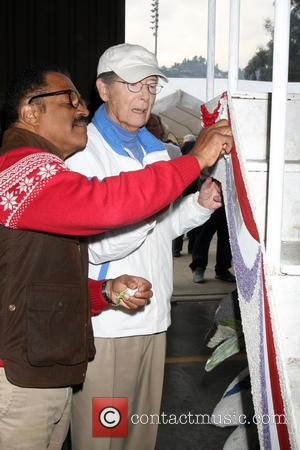 Ted Lange and Bernie Kopell - The original cast of The Love Boat reunite to decorate Princess Cruises' Rose Parade...