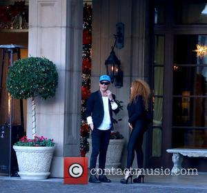 Lloyd Klein and Afida Turner - Afida Turner and Lloyd Klein arrive at the Montage Hotel in Beverly Hills -...
