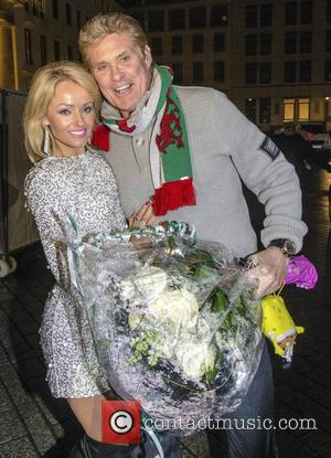 David Hasselhoff and Hayley Roberts - New Year's Eve Party at the Brandenburg Gate - Berlin, Germany - Wednesday 31st...
