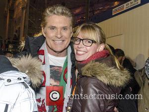 David Hasselhoff and Sabrina Gehrmann