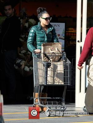Star of the hit musical TV show 'Glee' Naya Rivera was snapped as she did some last minute grocery shopping...