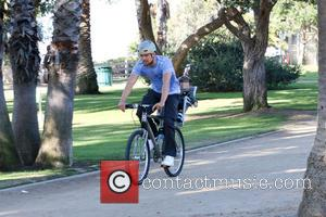 Josh Duhamel and Axl Duhamel - Josh Duhamel's son Axl got to ride along with his dad during a bike...