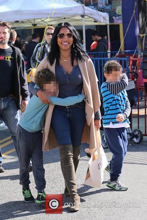 Garcelle Beauvais, Jaid Nilon and Jax Nilon - Celebrities shopping at the Studio City Farmer's Market at Studio City -...