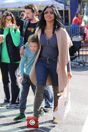 Garcelle Beauvais, Jaid Nilon and Jax Nilon
