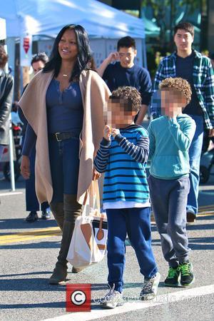 Garcelle Beauvais, Jaid Thomas Nilon and Jax Joseph Nilon - Garcelle Beauvais takes her twin sons to the Studio City...