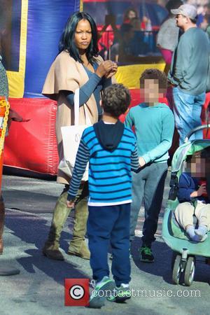 Garcelle Beauvais, Jax Joseph Nilon and Jaid Thomas Nilon - Garcelle Beauvais takes her twin sons to the Studio City...