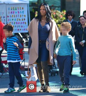 Garcelle Beauvais, Jax Joseph Nilon and Jaid Thomas Nilon